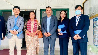 Photo of नेपाल टेलिभिजन निरीक्षण गर्दै सूचना तथा सञ्चार प्रविधि मन्त्री नैनकला थापा